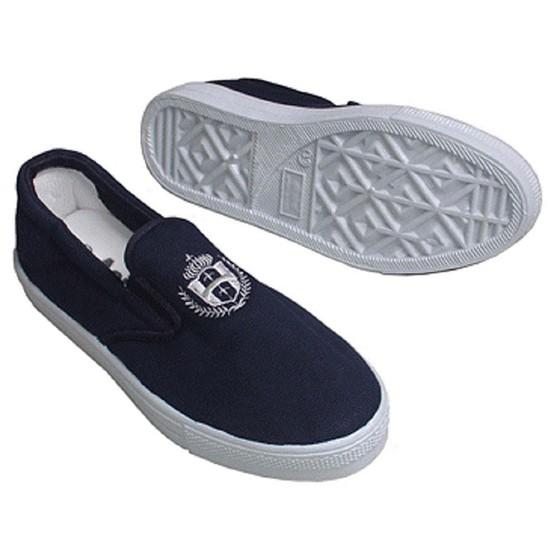 Giày bata xỏ asia nam nữ xanh đen và trắng