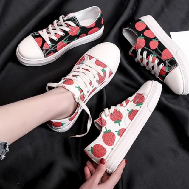 Giày Sneacker Dâu Tây Cổ Cao &Thấp HOT Summer 2019 123