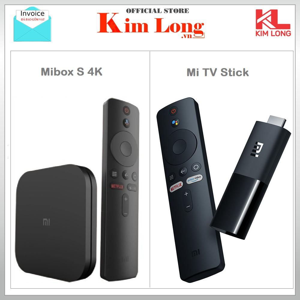 Tivi box Xiaomi Mibox S 4K / Mibox Mi TV Stick ,Bản Quốc Tế Tiếng Việt tìm kiếm giọng nói - Chính hãng phân phối