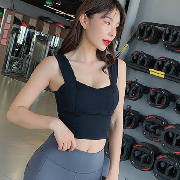 Áo Bra Thể Thao, Bra Tập Gym Yoga Aerobic, Chất Đẹp, Kiểu Dáng 2 Dây