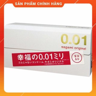 [Freeship] Bao cao su Sagami Original 0.01 mỏng nhất thế giới – hộp 5 cái