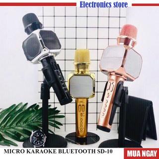 Micro Karaoke bluethoth SD10 Không Dây Kết Nối Bluetooth Nghe Hay - công suất lớn