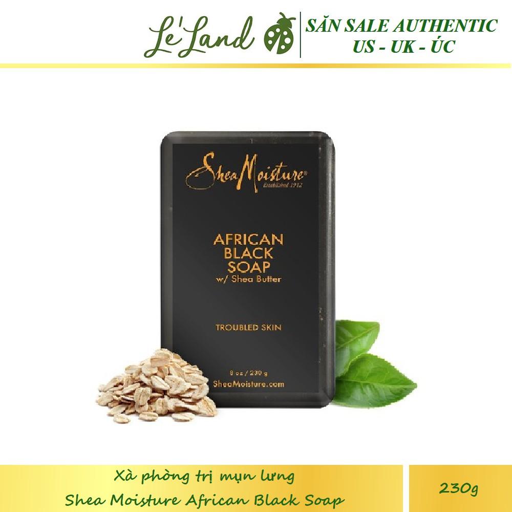 Bill US - Xà phòng đen giảm mụn lưng Shea Moisture SheaMoisture African Black Soap 230g