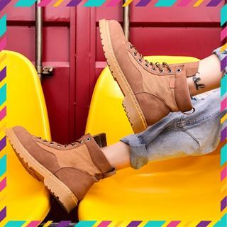 Giày da nam cao cổ tăng 7cm chiều cao( Tặng 1 lót giày tăng chiều cao) Đế cao su mũi cao khỏe, phong cách Bụi Bặm nakha thumbnail