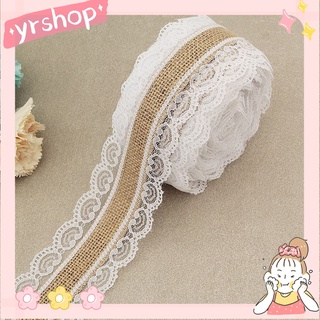 Lace linen roll White lace linen DIY handmade Christmas wedding class craft lace decorations MMYJT
