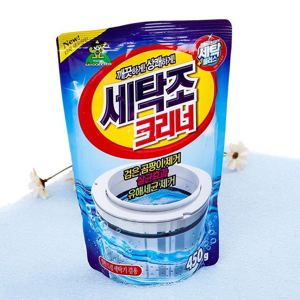 Bột tẩy vệ sinh lồng máy giặt Hàn Quốc gói 450gr - 2593037 , 99111395 , 322_99111395 , 40000 , Bot-tay-ve-sinh-long-may-giat-Han-Quoc-goi-450gr-322_99111395 , shopee.vn , Bột tẩy vệ sinh lồng máy giặt Hàn Quốc gói 450gr