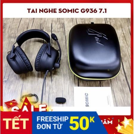 Tai nghe Somic G936 - Black - Bảo hành chính hãng 12 tháng