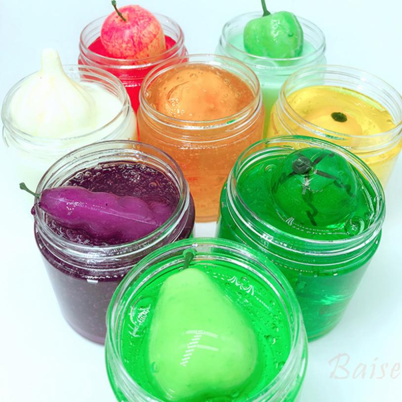 Baise Fruit and crystal vegetable mud slime transparent mud DIY decompression toy