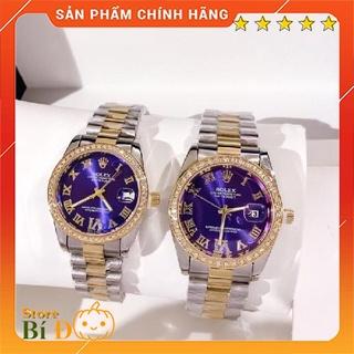 Đồng hồ Rolex nam nữ cao cấp dây đúc hợp kim NGUYÊN KHỐI không gỉ, không phai màu, mặt đính hạt - Bảo hành 12 tháng thumbnail