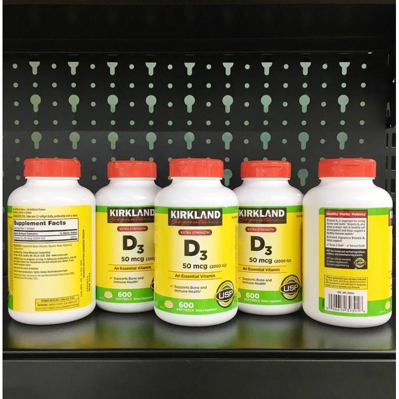 Vitamin D3 50mcg 2000IU Kirkland 600v