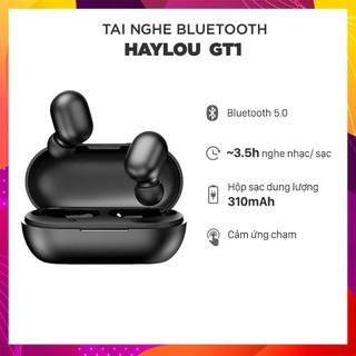 [Đen/Trắng] Tai nghe Bluetooth True Wireless - Haylou GT1 chống nước chuẩn IPX5, 12 giờ, cảm ứng, đàm thoại, chuyển nhạc
