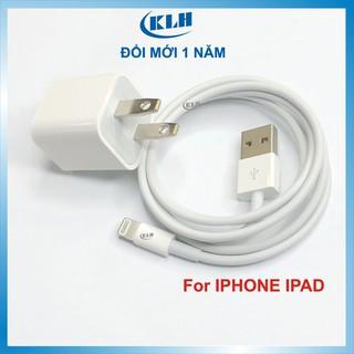 Bộ củ cáp sạc cho ipad, Iphone - cốc vuông sạc nhanh ổn định 5 6 6s 6sPlus 7 8 7Plus 8Plus X XS Max Xr 11 KLH IP70 thumbnail