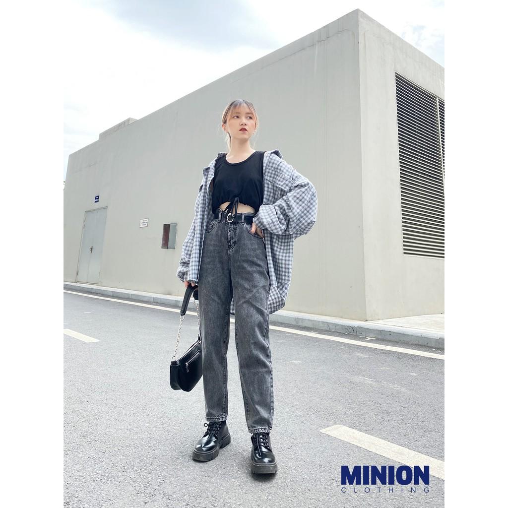 Áo croptop 3 lỗ Minion Clothing, form vừa, phong cách Ulzzang Streetwear A2725