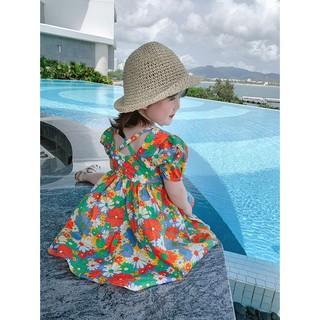 Váy hoa nhỏ mùa hè cho bé kiểu phương tây