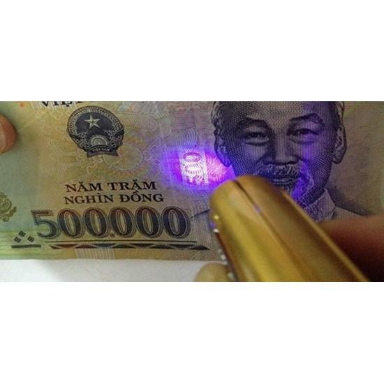 Móc khóa soi tiền giả kiêm bút trình chiếu, đèn pin giá rẻ