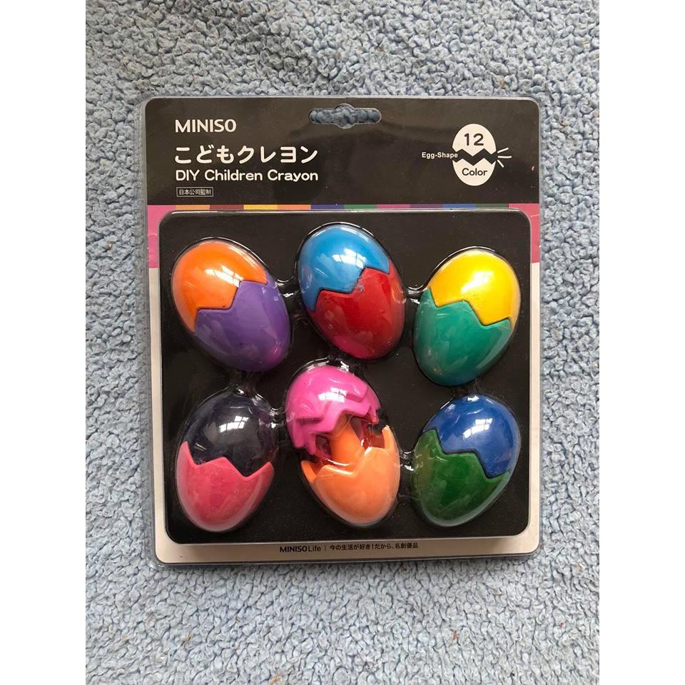 Sáp màu vẽ an toàn cho bé Misino ( hàng xuất Nhật - vỉ 12 màu)