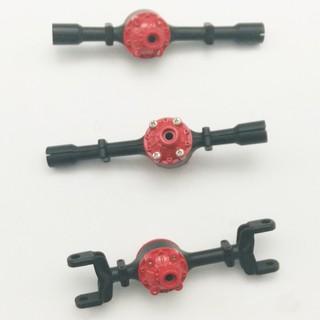 Bộ vỏ cầu kim loại lắp cho xe RC WPL 6×6 tỉ lệ 1:16 (Màu đen đỏ)