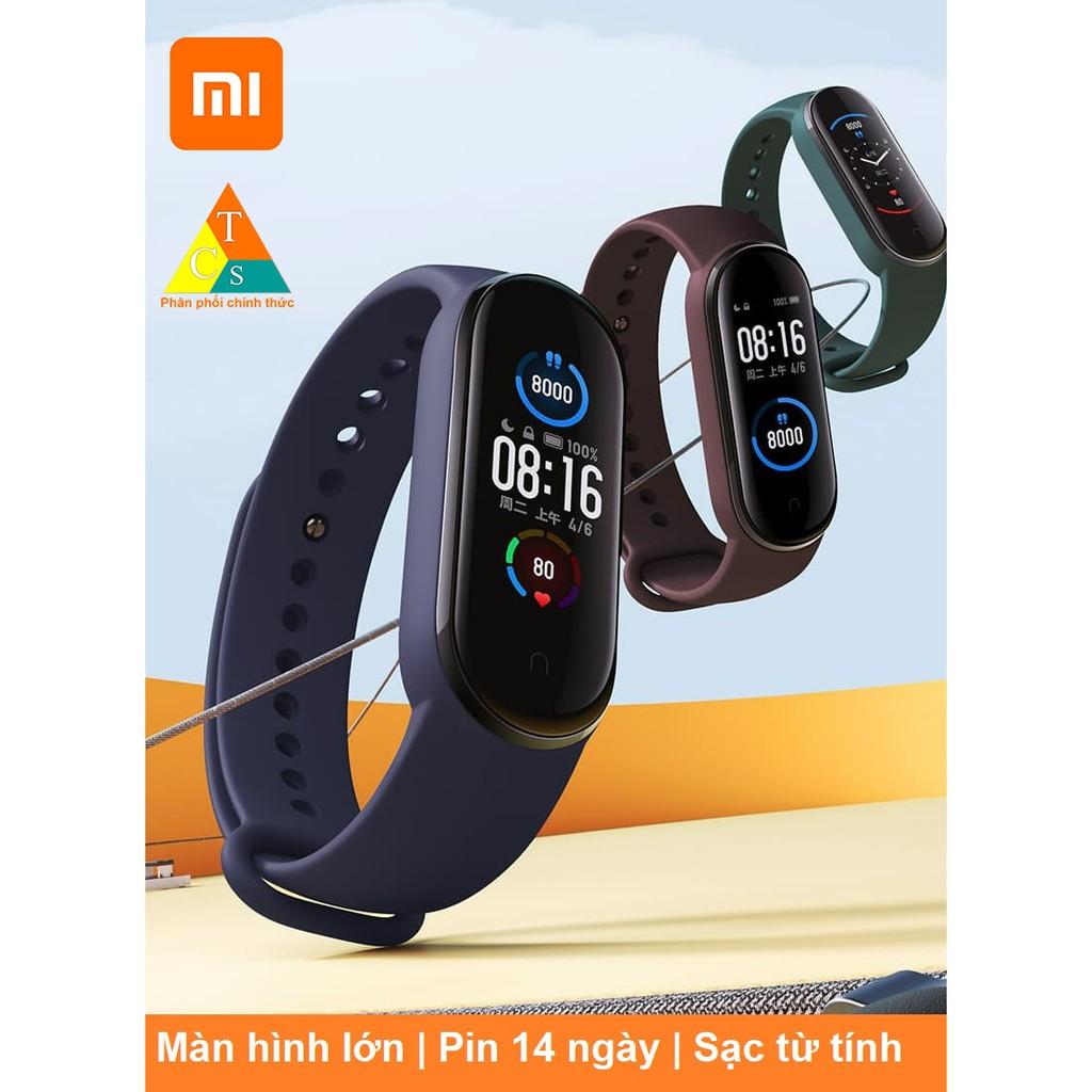 Vòng tay theo dõi sức khoẻ Mi Band 5 Xiaomi