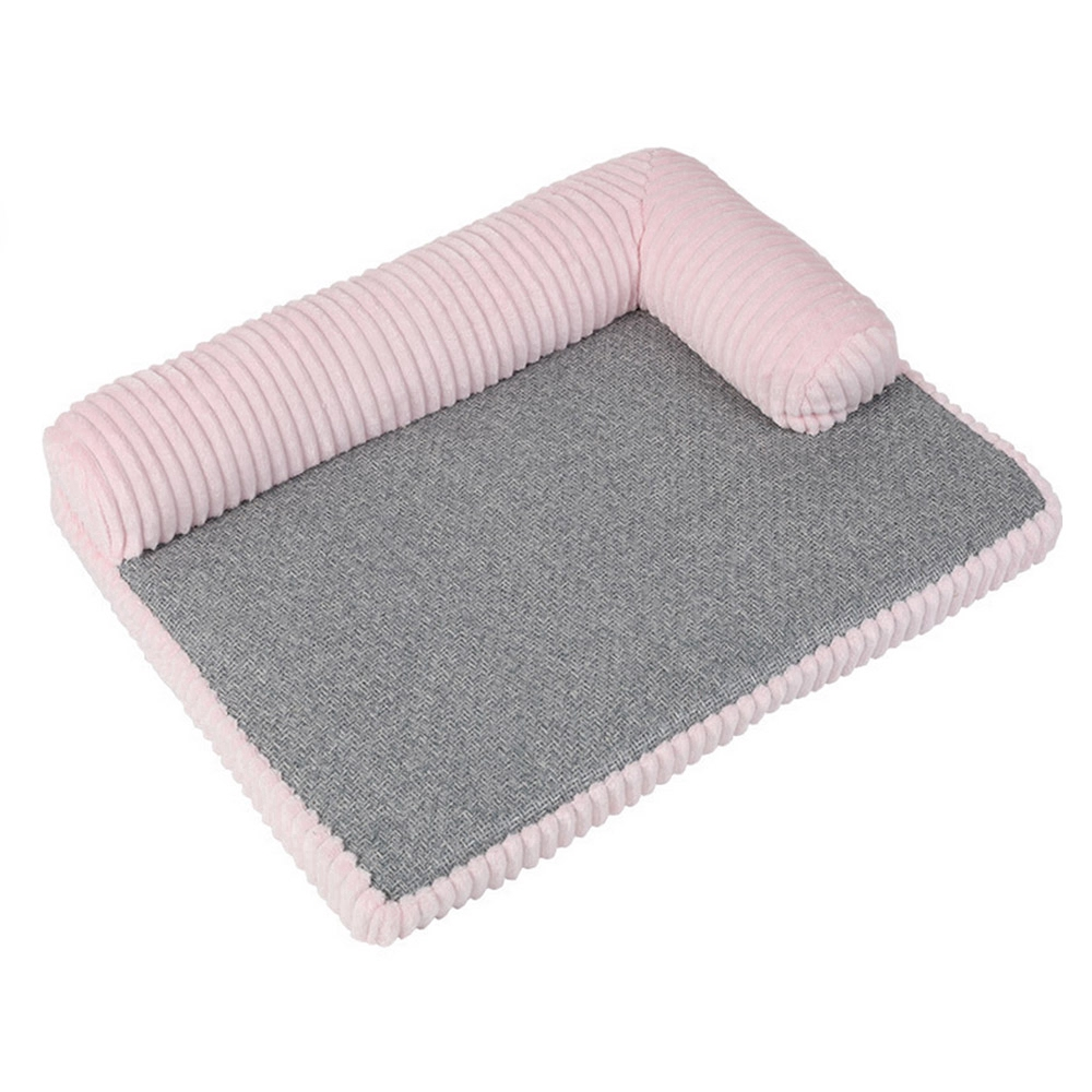 Dog Bed L-Shaped Lounge Cotton Sofa Pet Bed Dog Cat Removable Dog Cat General Kennel