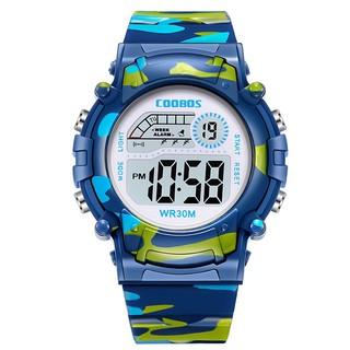 [Mã FAMAYFA giảm 10K đơn 50K] Đồng hồ trẻ em thể thao Coobos cho bé trai và bé gái không thấm nước và có đèn dạ quang
