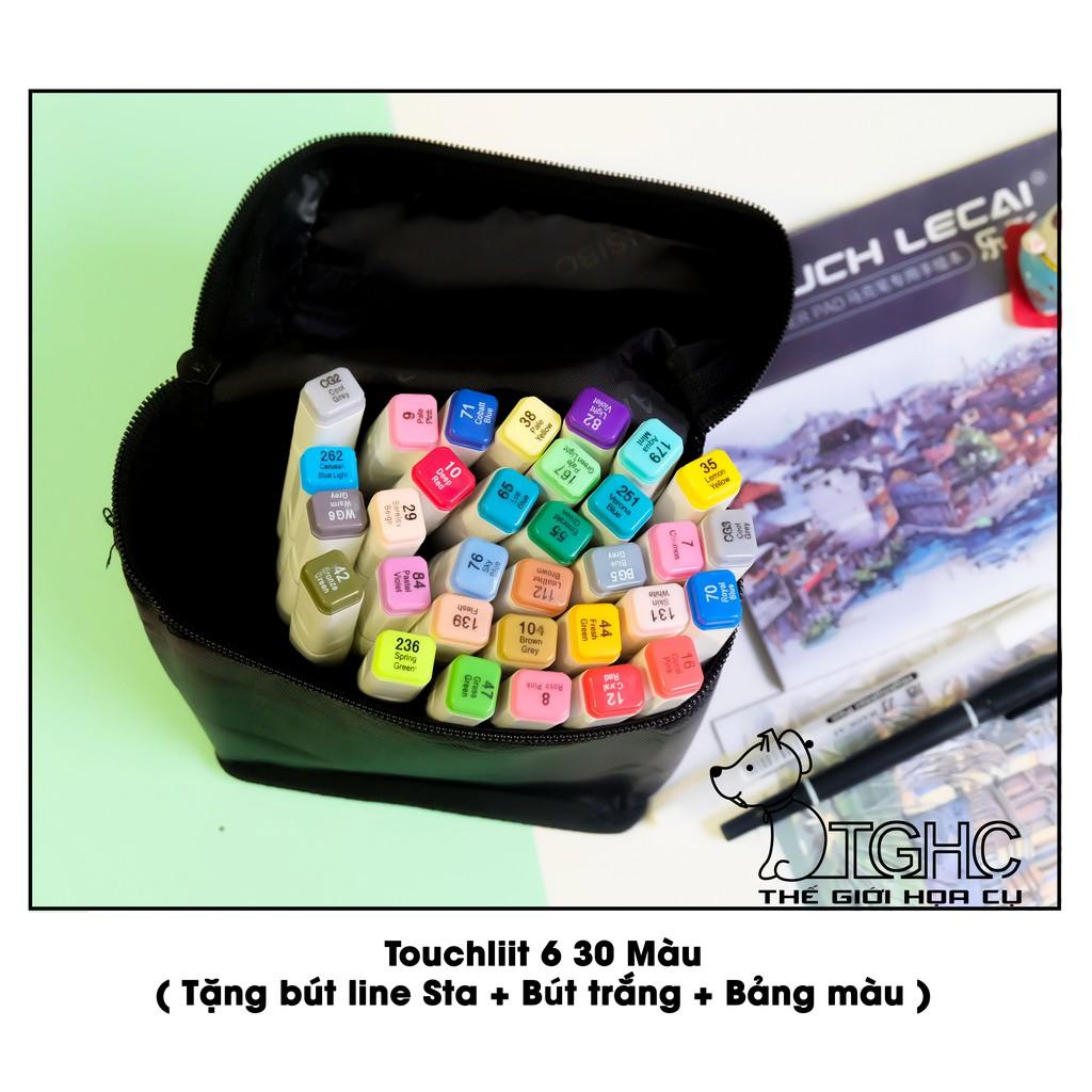 [SIÊU RẺ] Bút Marker Touchliit 6: Bộ 30 Màu - Bộ 30 Màu + Set Da 12 Cây [CHÍNH HÃNG][ Quà Tặng Hấp Dẫn]