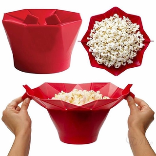Microwave Silicone Foldable Popcorn Maker Container Holder Tools DIY 967 Bucket