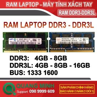 Ram Laptop DDR3L (PC3L) 8GB, 16GB bus 1600 ( Hynix / MT, Samsung ) tháo máy zin đẹp như mới – Bảo Hành 3 Năm