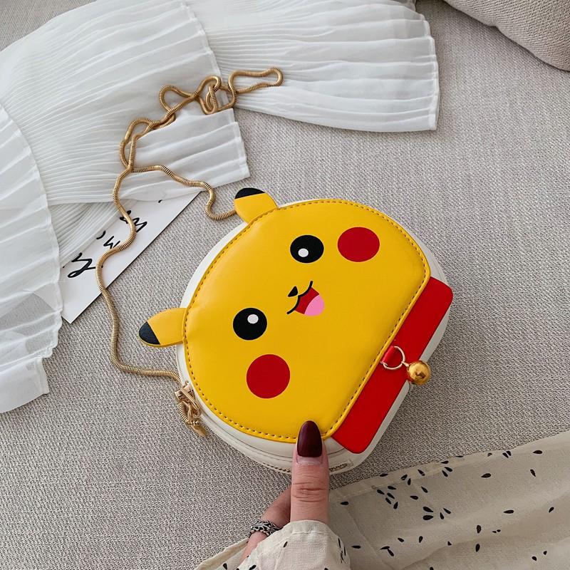 กระเป๋าเล็กน่ารักการ์ตูนหญิง Pikachu Messenger กระเป๋าสาวน้ำจูดี้กระเป๋าสะพายไหล