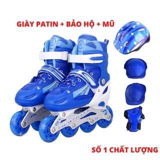 Combo Giày Trượt Patin Thể Thao Cao Cấp + Bộ Bảo Hộ Toàn Diện (Chân, Tay, Mũ)