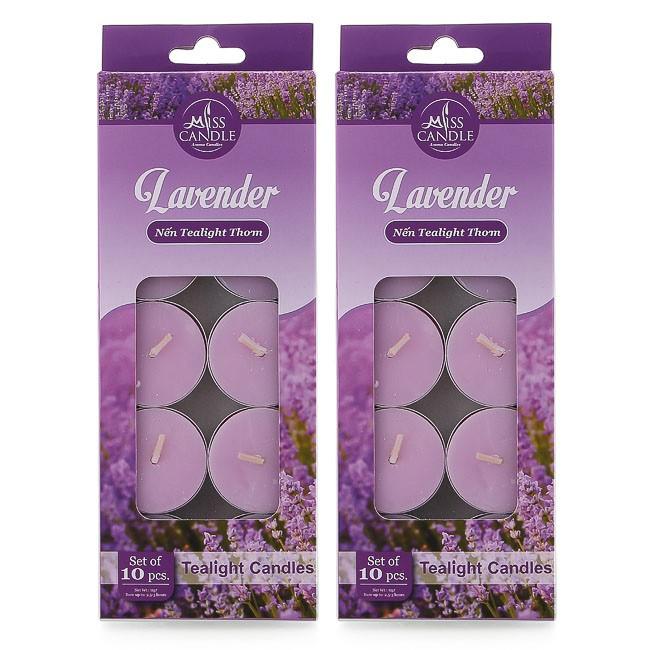 Combo 2 hộp nến tealight thơm Miss Candle FtraMart MIC0147 Lavender (Hương oải hương)