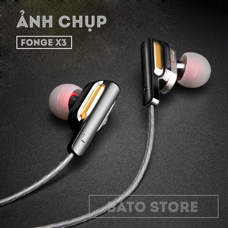 Tai nghe thể thao Fonge X3, Chống ồn, Double BASS - Fullbox, Tặng hộp đựng carbon