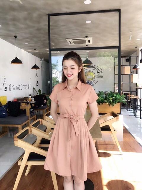 Đầm suông cột nơ siêu xinh - Đầm dáng xòe- Đầm xòe cho nữ