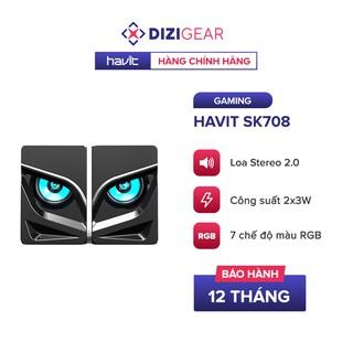 Loa Gaming RGB HAVIT SK708, Âm Thanh Stereo 2.0, 7 Chế Độ Màu RGB, Cống Suất 2x3W - Chính Hãng BH 12 Tháng Dizigear thumbnail