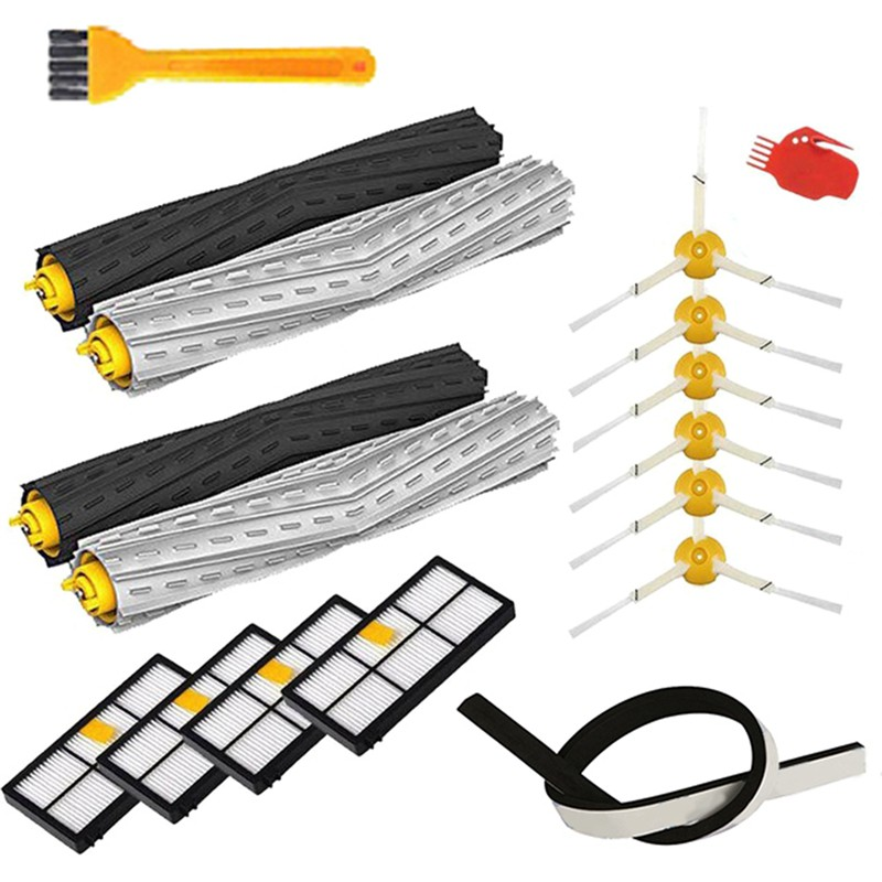 Hepa Filters Replace Brush Kit Parts Accessories for Irobot Roomba 805 860 861 865 866 870 871