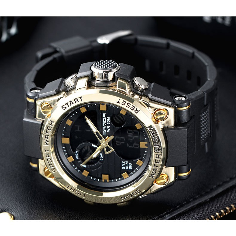 Đồng hồ thể thao nam sport watch Sanda 739 size 48mm