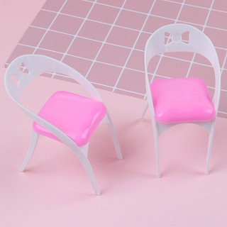 2 Pcs detachable dollhouse furniture chairs for dolls toy kid gift
