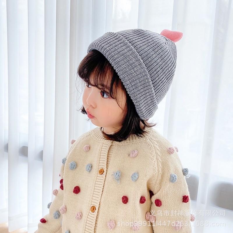 Mũ len trái tim cho bé 5 tháng - 4 tuổi
