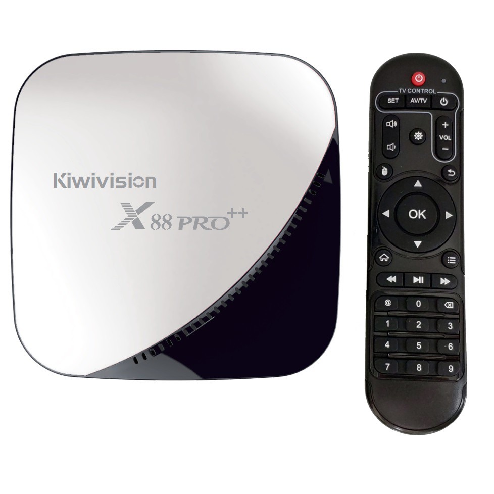 Tivi box android Kiwivision X88 Pro++, Ram 4G Rom 16G, androi tivi box chất lượng 4K, hình ảnh Full HD