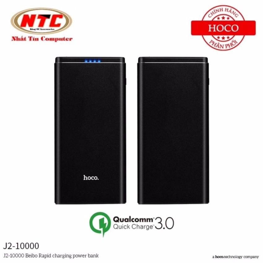Pin sạc dự phòng Hoco J2 10000mAh Quick Charge 3.0 (Đen) - Hãng phân phối chính thức