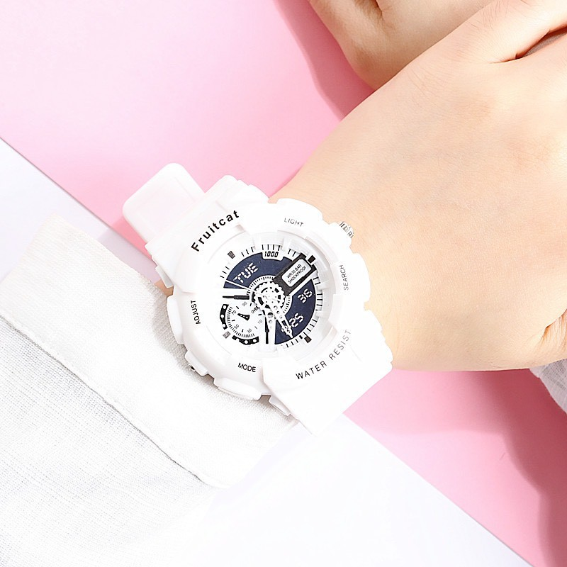 Đồng hồ thời trang nam nữ Fruitcat chạy kim giả điện tử cá tính DH108