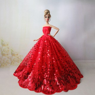 Sequins Wedding Night Dress Pretty Princess Dress for 30cm Dolls