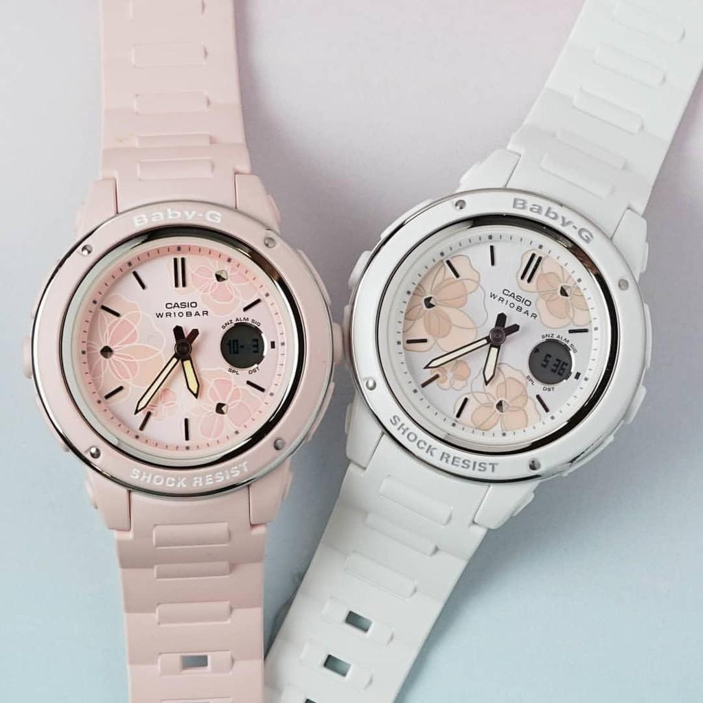 Đồng hồ dây nhựa Casio Baby-G Nữ BGA-150FL-4A chính hãng bảo hành 5 năm Pin trọn đời