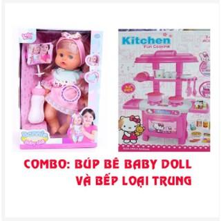Freeship: Combo búp bê babydol và bếp kitty loại trung