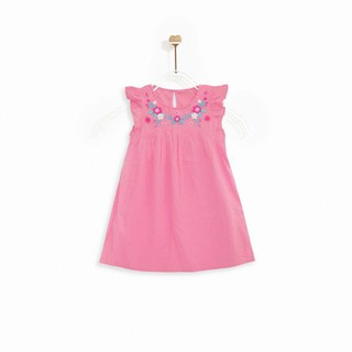 Áo đầm bé gái FLORAL EMBO M.D.K