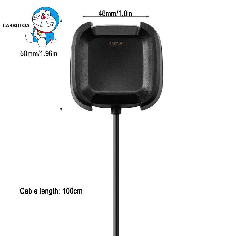 Dây Cáp Sạc 3.3ft / 100cm Cho Đồng Hồ Thông Minh Fitbit Versa