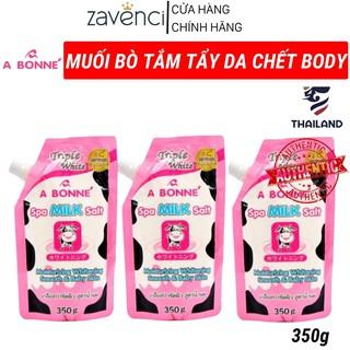 Muối Bò Tắm Tẩy Tế Bào Chết Body ABONNE Thái Lan Hương Sữa Tươi (350g) thumbnail
