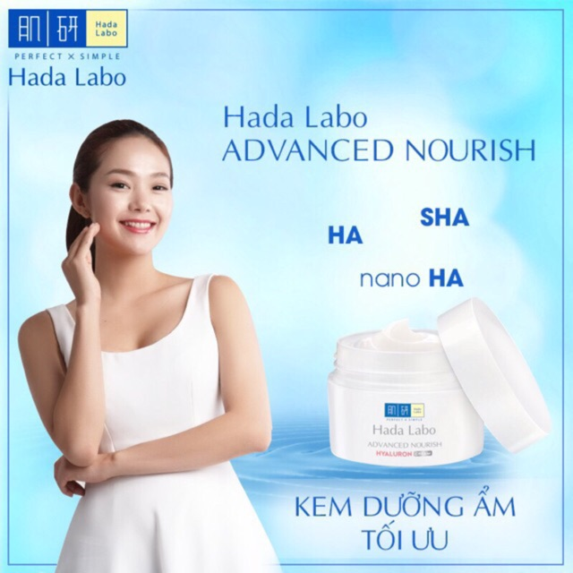 Kem dưỡng ẩm sâu Hada Labo Advanced Nourish Hyaluron Cream 50g (date 2021)