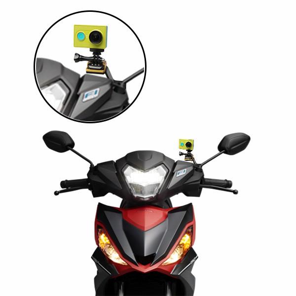 Pat gắn GoPro / Action Cam chân kính xe máy