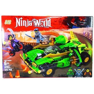 Bộ Lego Lắp Ráp Ninjago No.82051. Gồm 425 chi tiết. Lego Ninjago Xếp hình Đồ Chơi Cho Bé