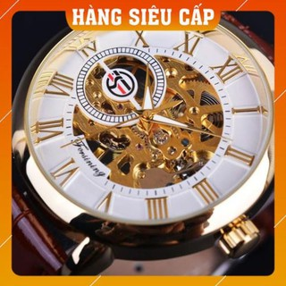 [CAO CẤP] Đồng hồ cơ nam Forsining Handwinding H099M DÂY DA lộ máy